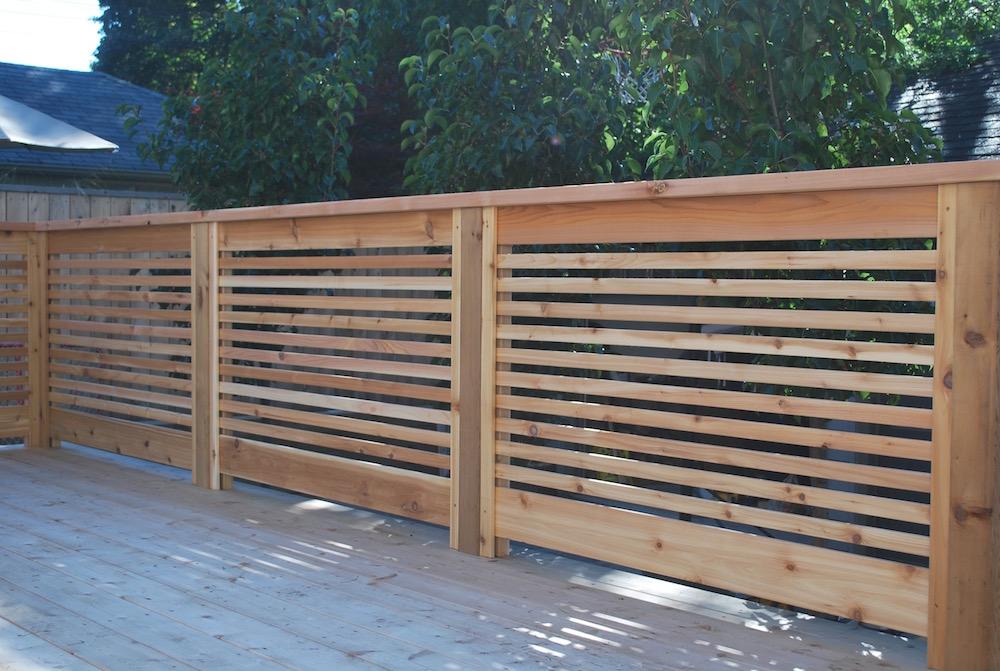 Cedar Deck Railing