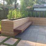 Floating IPE bench with cedar planters(1)