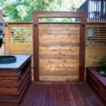 IPE Deck with Cedar Fence