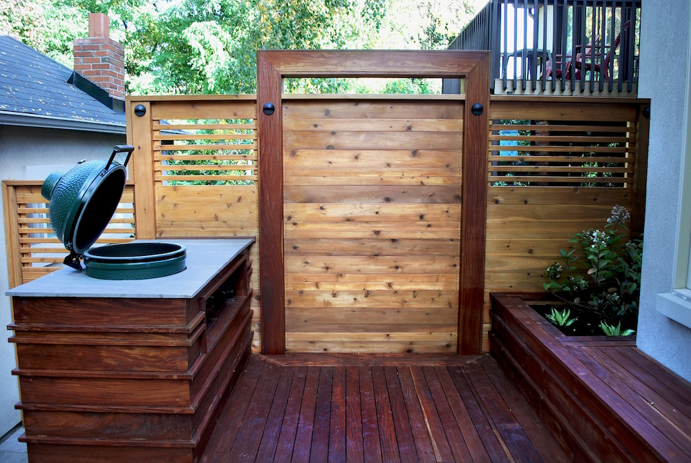 IPE Deck with Cedar Fence