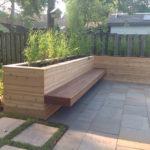 Ipe floating bench