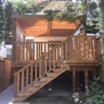 Sienna pressure treated deck and Pergola